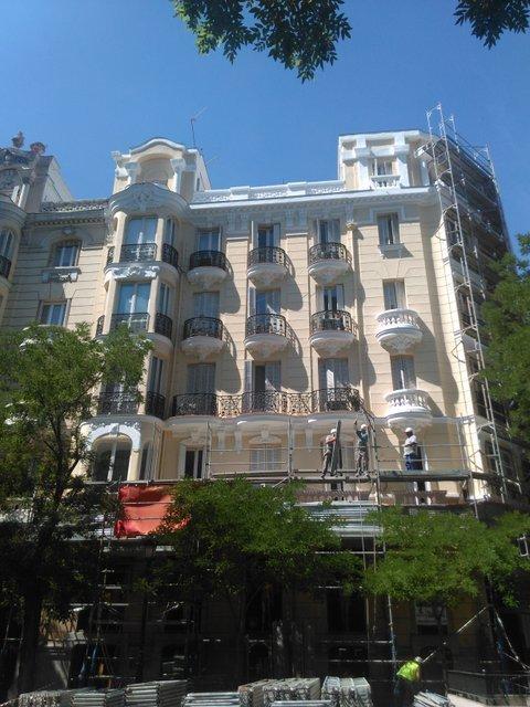 Pintura Azulejos Baño Titanlux:Pinturas Lagun – Silicato Dyrup Obra de fachada en Madrid – Pinturas